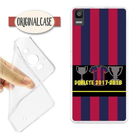 Funda Carcasa Campeones Lliga y Copa 2018 Barcelona Futbol BQ E5S