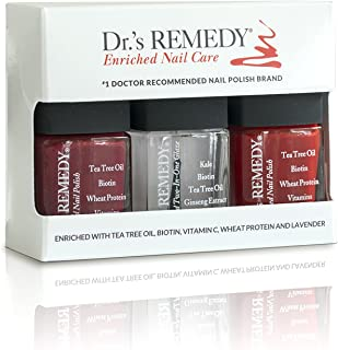 product image for Dr.'s REMEDY Enriched Nail Polish, TRIO Collection, Red/Brick Red, 1 fl. oz.