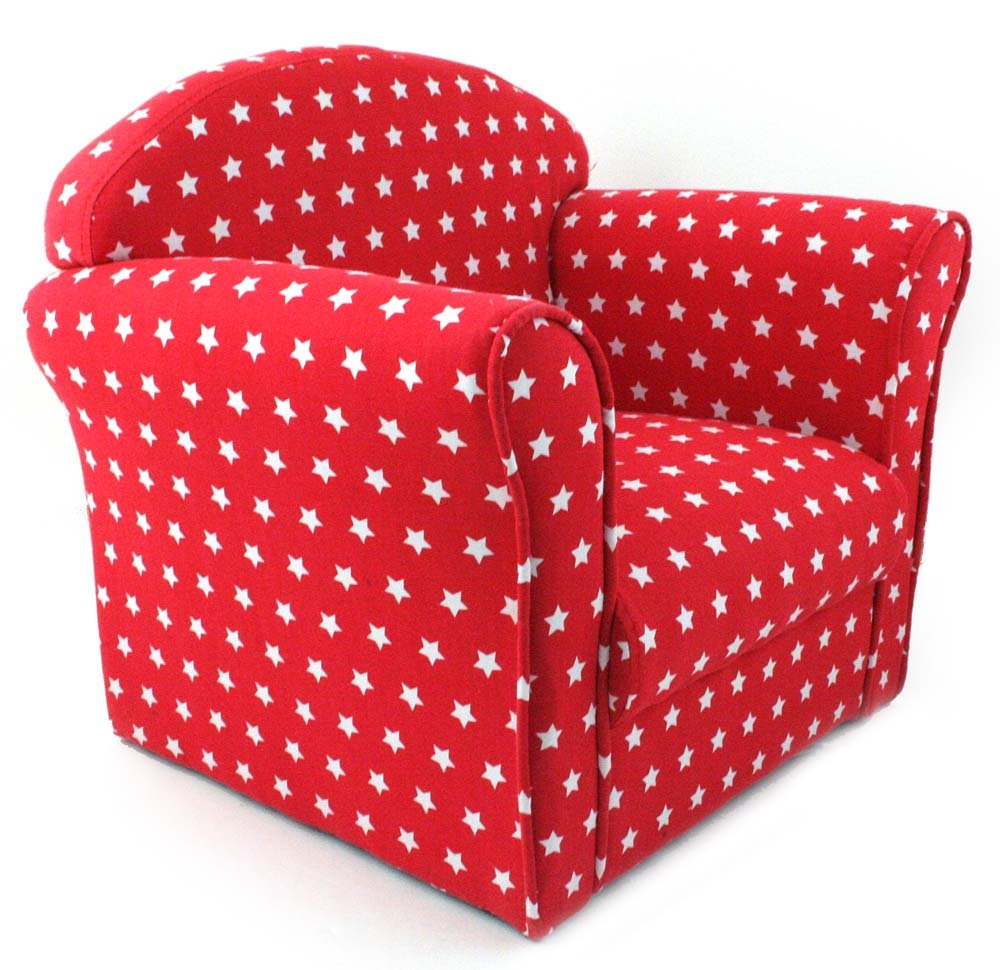Kids Childrens Red With White Stars Fabric Tub Chair Armchair Sofa Seat  Stool: Amazon.co.uk: Kitchen U0026 Home