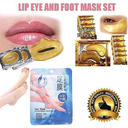 Ardisle – 3 PK oro Colágeno Cara Labios Máscara Hidratante Antiarrugas Blanqueamiento Regeneración cara suave tono