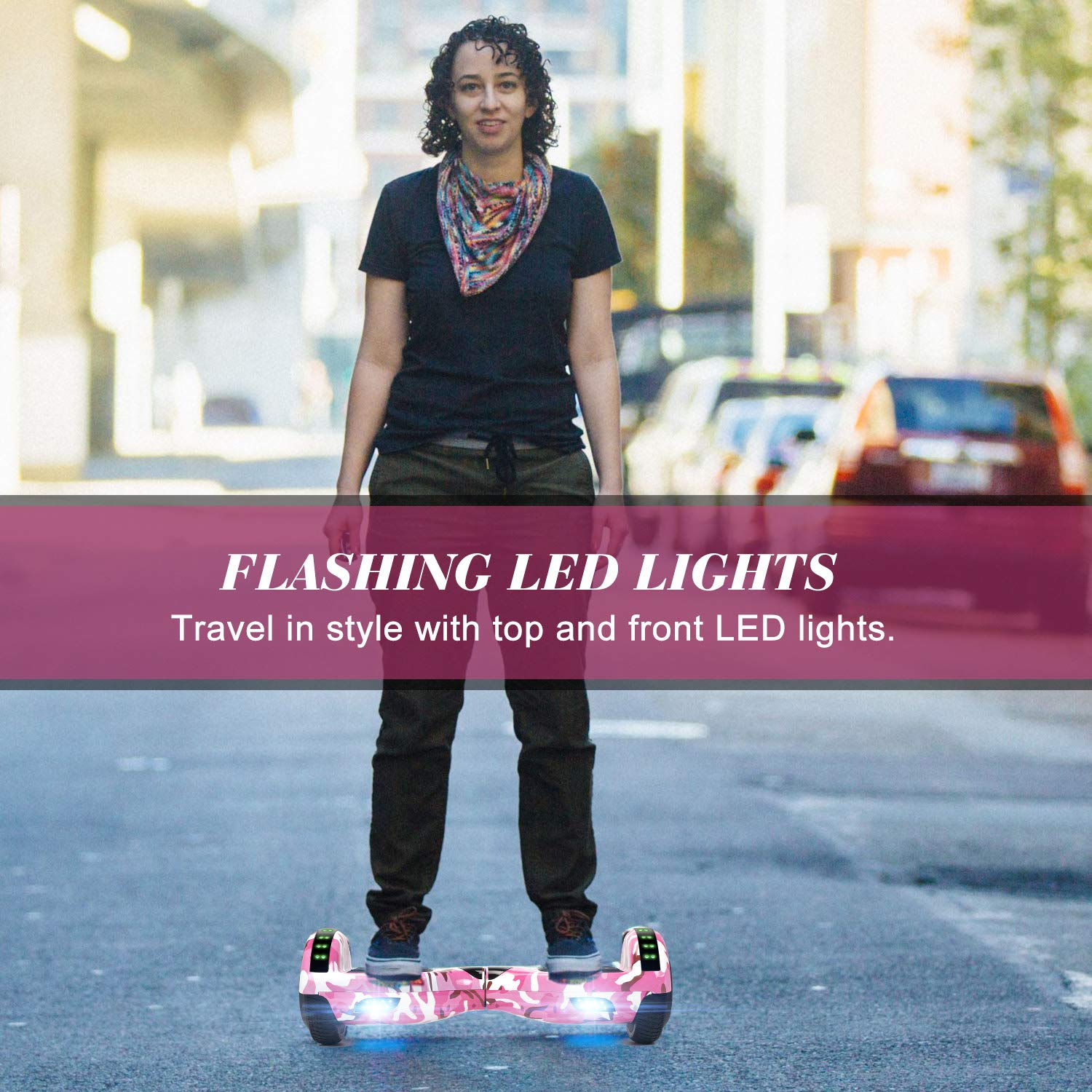 """SWEETBUY Hoverboard UL 2272 Certified 6.5"""" Two-Wheel Self Balancing Electric Scooter with LED Light Flash Lights Wheels RED (free carry bag) by SWEETBUY (Image #5)"""