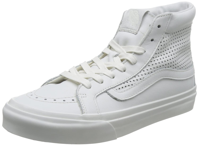 Vans Unisex Sk8-Hi Slim Women's Skate Shoe B01I2AX3NK 7.5 B(M) US|White White