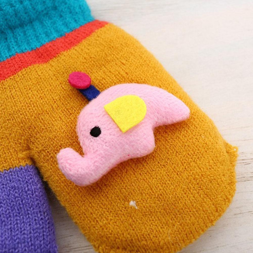 COMFOTAM 1//2 pares de guantes de invierno para ni/ños Kidorable Kids Knitted Gloves//Mittens Cartoon Design Gloves