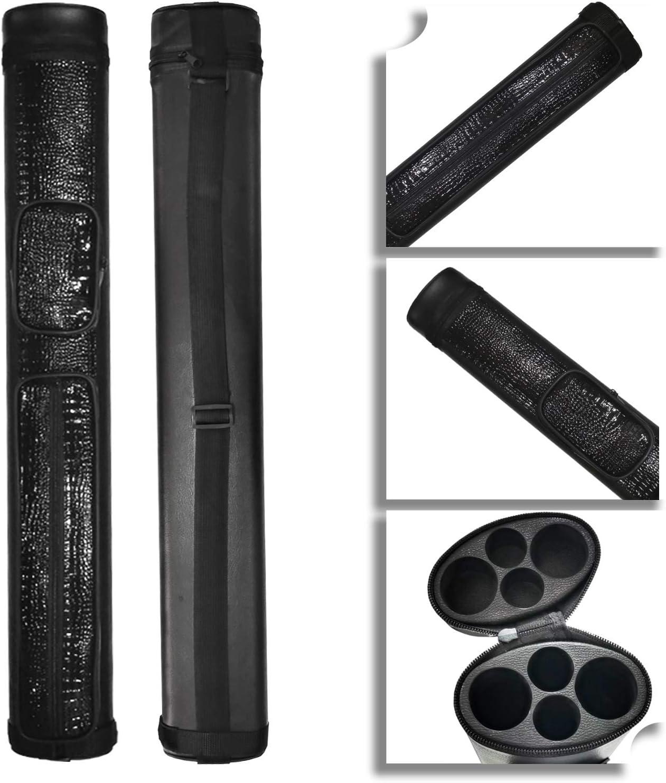 2x2 Hard cue case Oval Pool Cue Billiard Stick Carrying Case