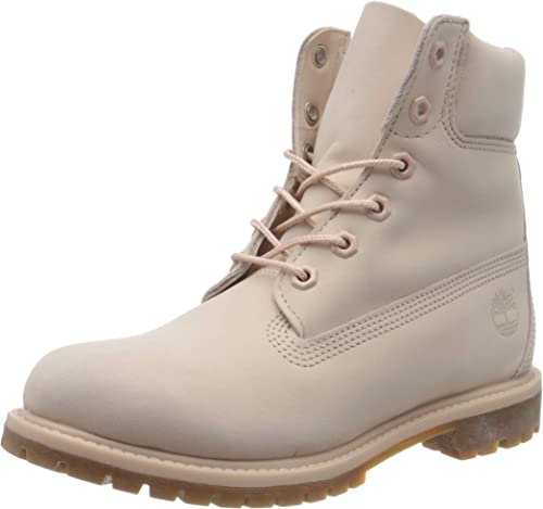 """Timberland Women's Icon 6"""" Premium A1K3Z Lace Up Boot Cameo Rose"""