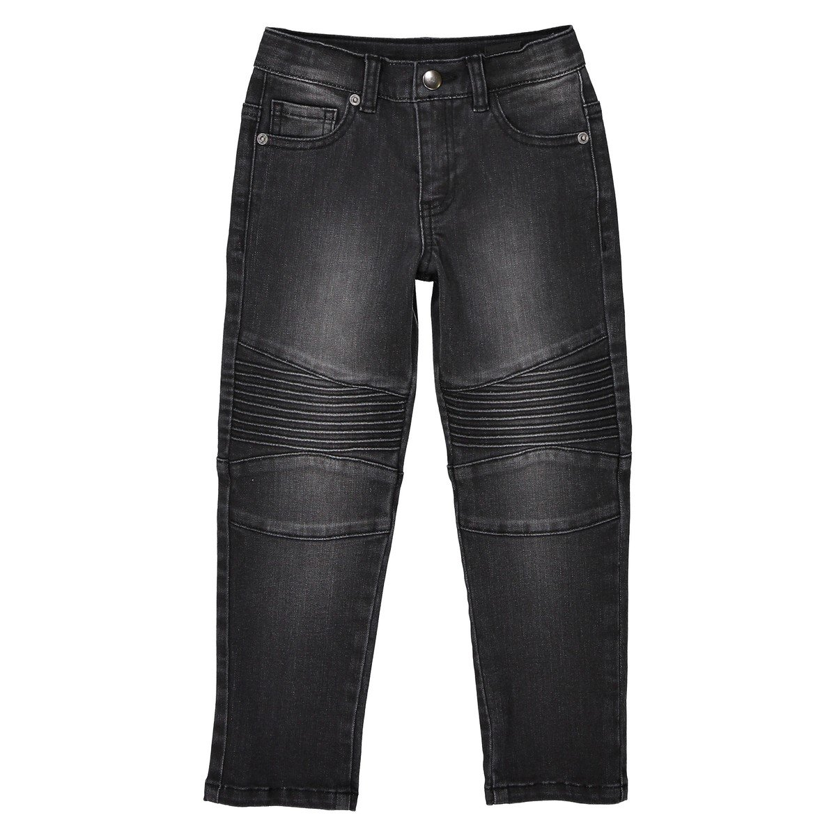 La Redoute Collections Big Boys Super Tough Jeans 3-12 Years Black Size 6 Years 44 in.