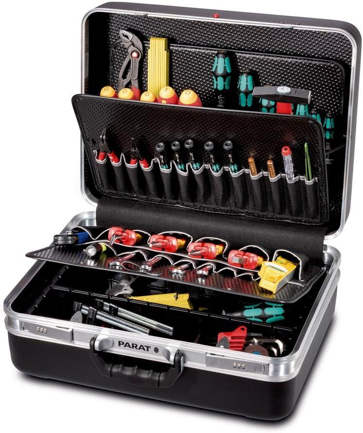 Parat 489050171 caja de herramientas Negro De plástico - Cajas de herramientas (Negro, De plástico, 50 bolsillos, Moisture-resistant, Resistente a golpes, 490 mm, 230 mm)