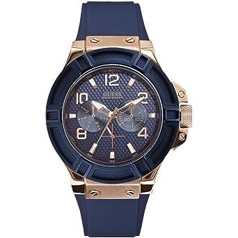 Montre GUESS en Silicone Bleu - Homme - 45 mm  Amazon.fr  Montres 056e9043393