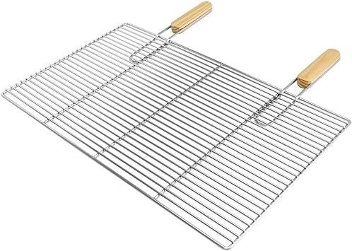 Grille de cuisson en acier inoxydable 54x34 60x40 67x40 cm avec 2 poignées