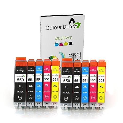 456 opinioni per 10 XL Colour Direct Compatibile cartucce d'inchiostro di ricambio per Canon