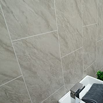 Bathroom Shower Cladding Wall Panels Ceiling Panels Grey Marble 100 Waterproof By Claddtech 4 Panel Pack