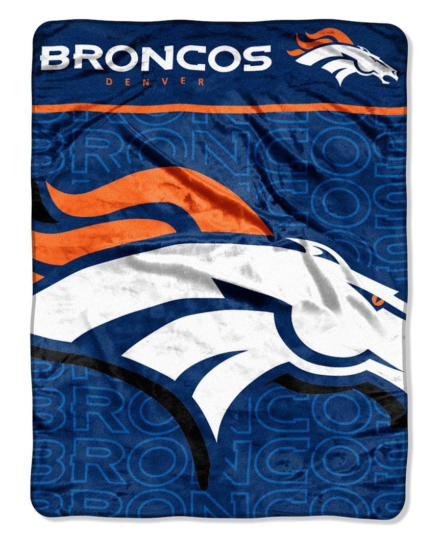 NFL Denver Broncos Micro Raschel Throw Blanket, 46 x 60-Inch by The Northwest Company
