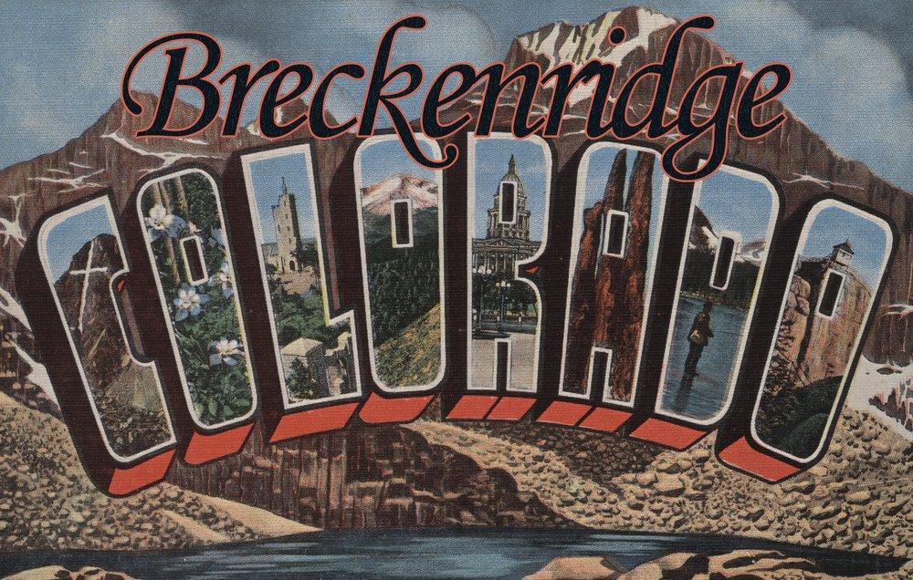 Breckenridge、コロラド – Large Letterシーン 36 x 54 Giclee Print LANT-8074-36x54 B01MYB6NK1  36 x 54 Giclee Print