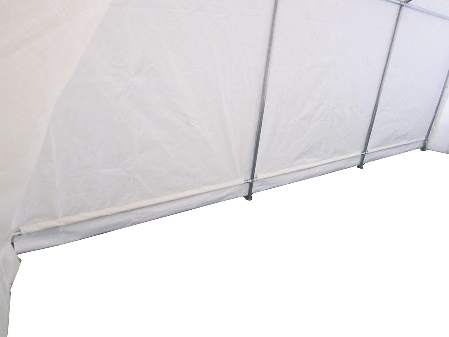 FoxHunter Heavy Duty Waterproof 3m X 6m Carport Party Tent Canopy White 180g Polyster Steel Frame Amazoncouk Garden Outdoors