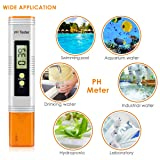 Digital PH Meter, Water Quality Tester 0.01 PH High Accuracy and 0-14 PH Measurement Range with ATC, Swimming Pools, Aquariums,Hydroponics