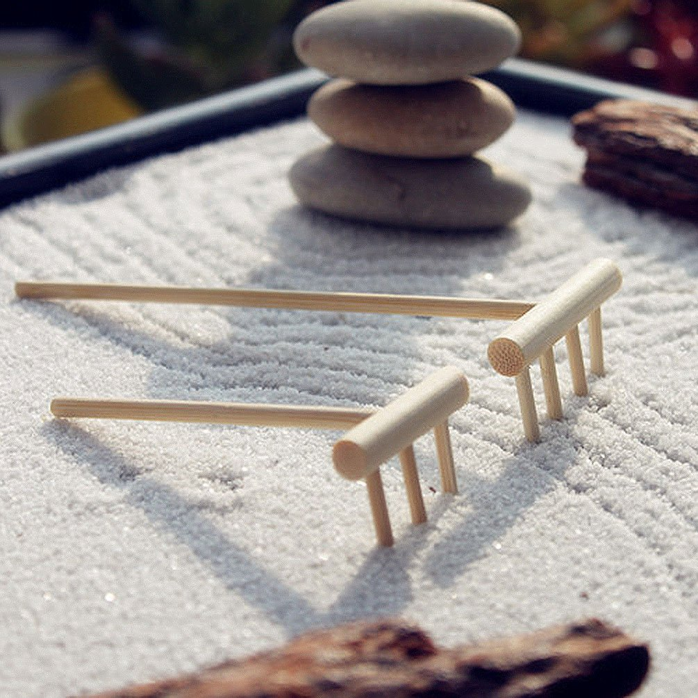 Amazon.com: Novelty Zen Garden Rake Decor Accessories Mini Zen Garden Art  Kit Sand Push Pen: Home U0026 Kitchen