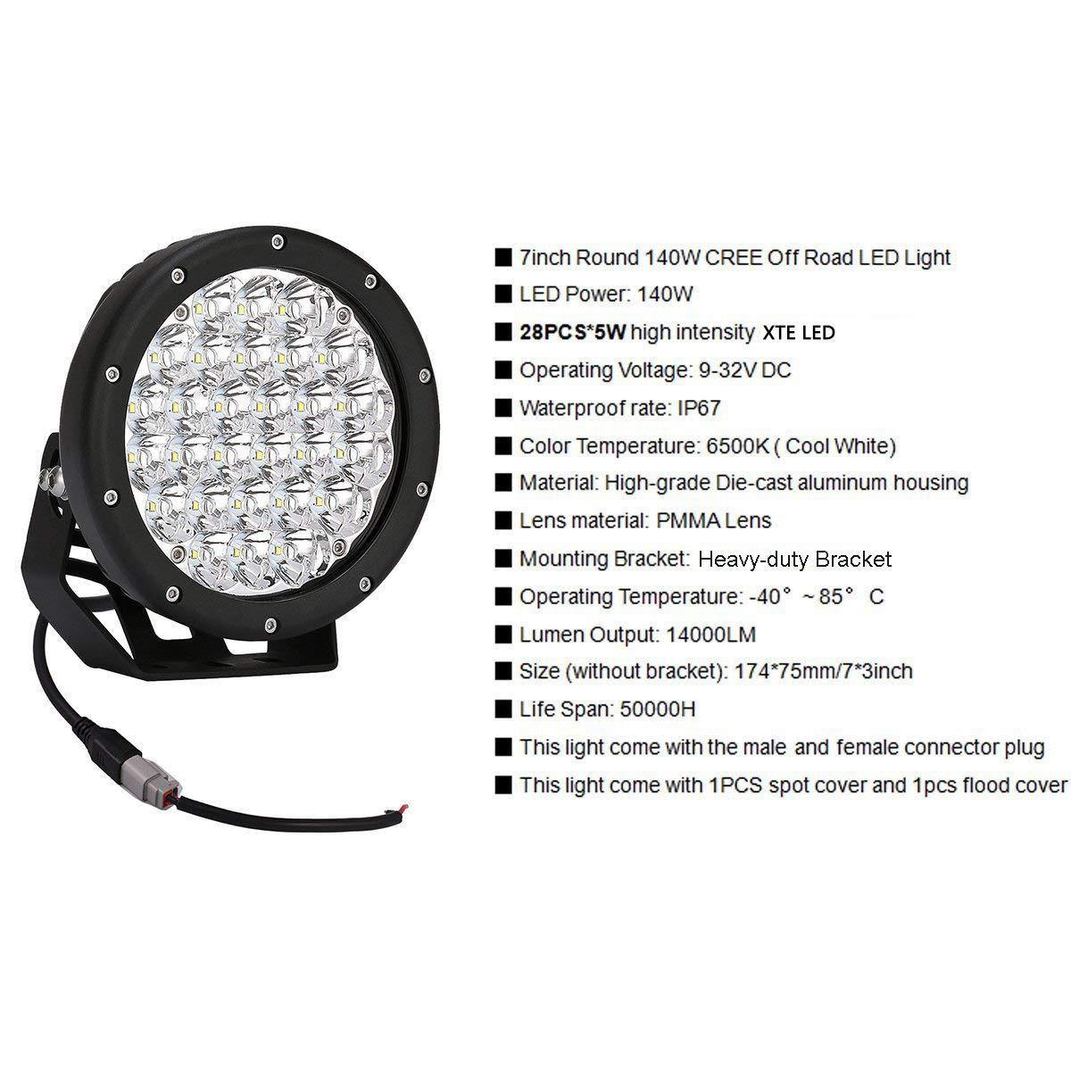 Amazon.com: lightronic - Luces LED redondas de conducción ...