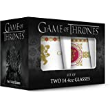 Game of Thrones Lannister Stemless Wine Glass with Gold Rim (Set of 2), Clear