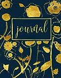 Journal: Gold & Navy Florals: Notebook & Journal