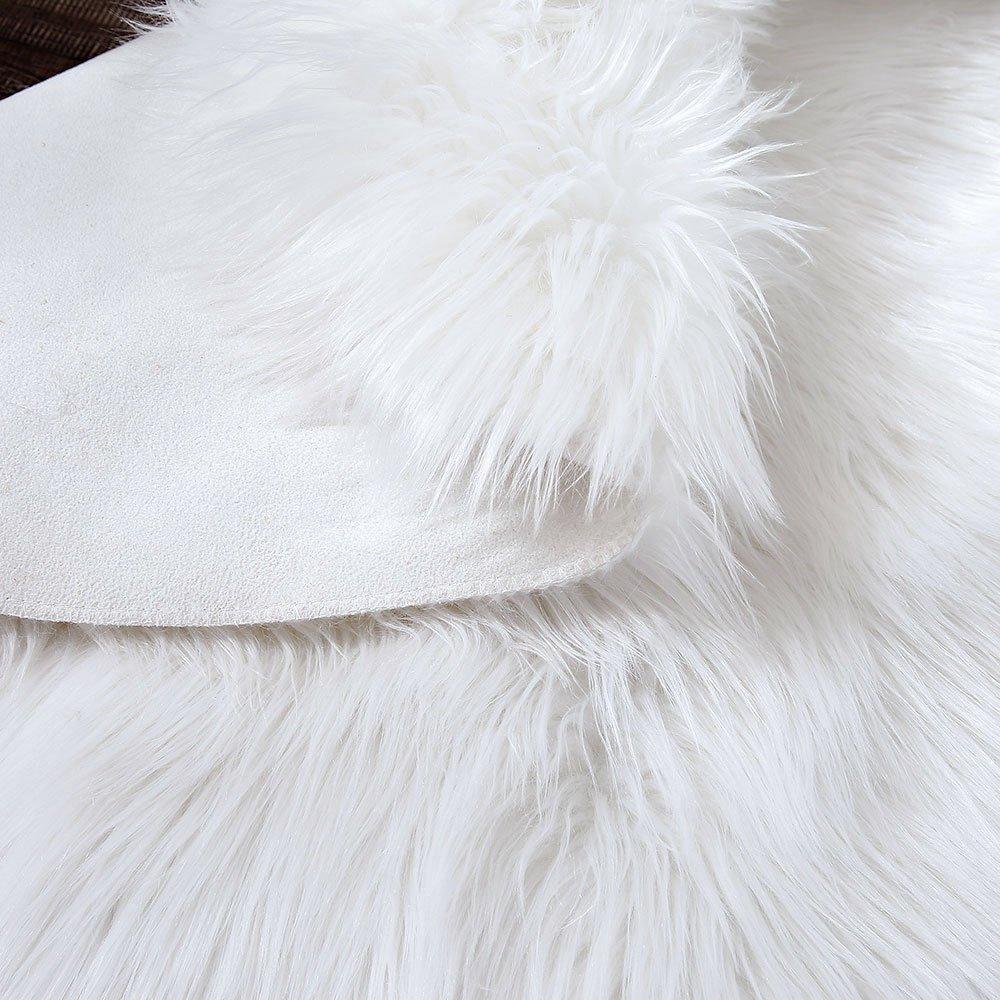 Plush Throw Rug: LEEVAN Plush Sheepskin Throw Rug Faux Fur Elegant Chic