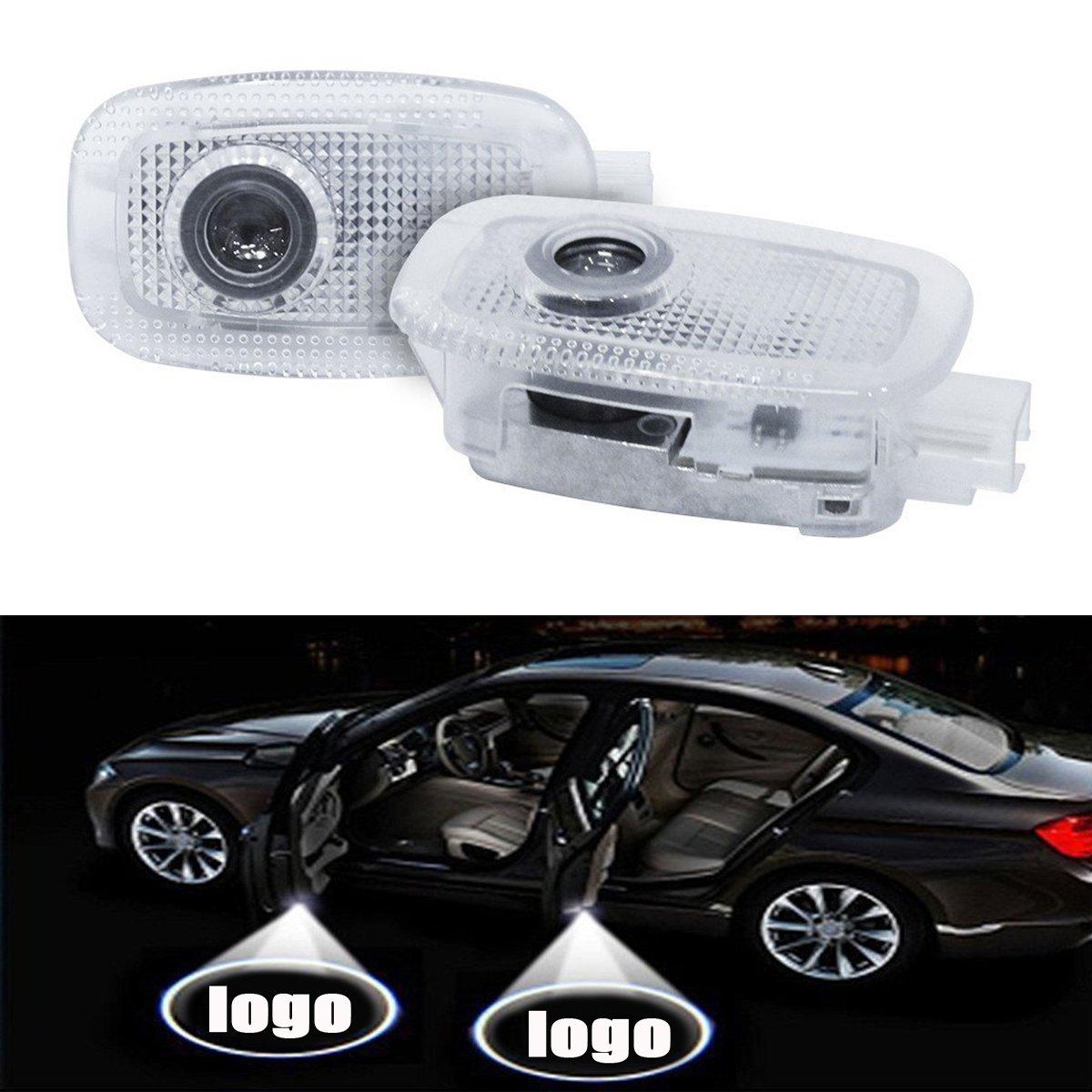SMKJ Bienvenue Lumiè re, 1 paire É clairage d'accueil LED Installation facile Projecteur de porte de voiture Logo Esprit Lumiè res Ombre Pour S (W221) (2008-2013 )