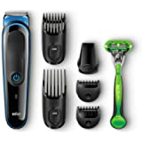 Braun MGK3040 MultiGroomer Kit Regolatore per Barba e Capelli 7-in-1 con Rasoio Gillette Body