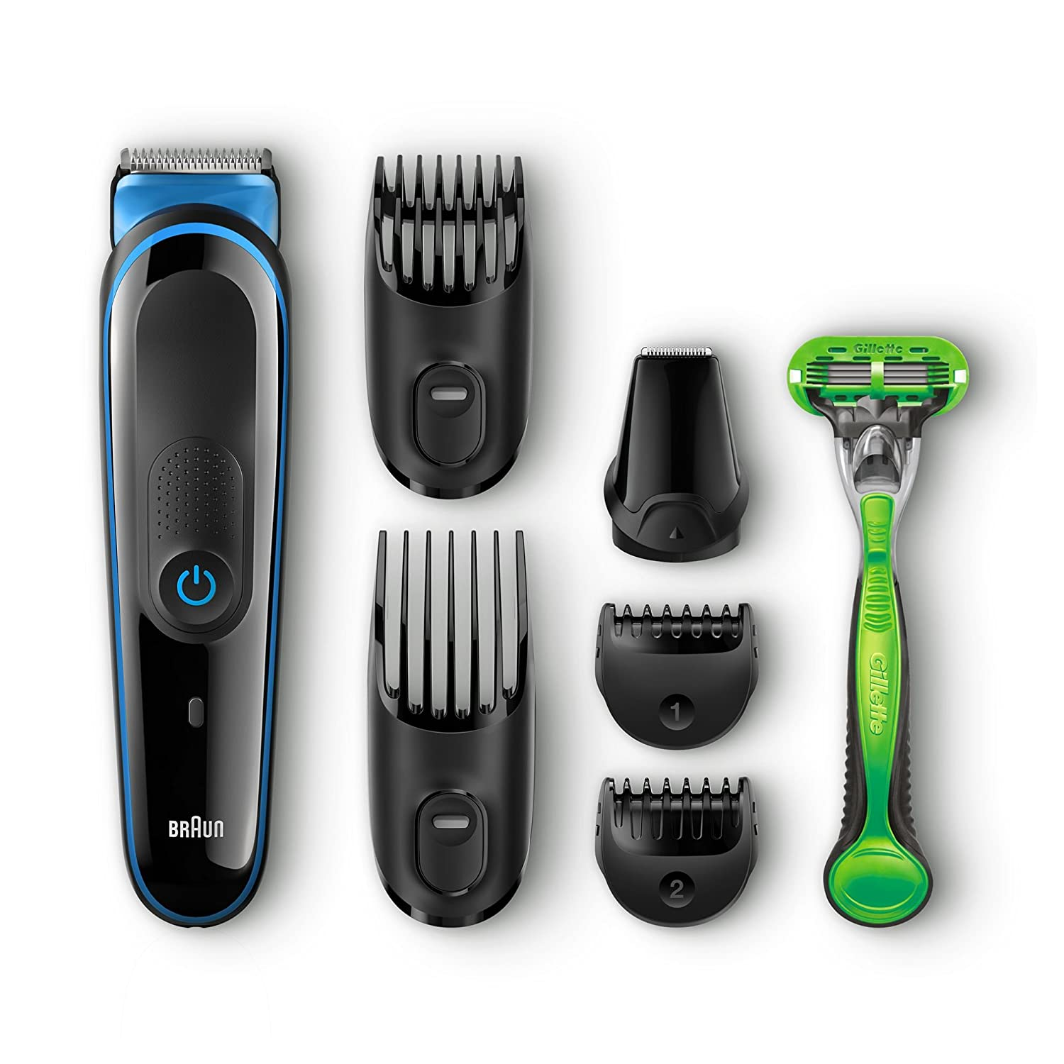 braun 7 in 1 beard hair trimmer multi grooming kit plus gillette body razor ebay. Black Bedroom Furniture Sets. Home Design Ideas