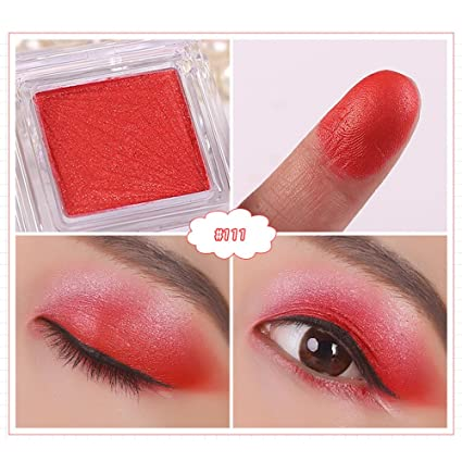 Amazon Com Mitsutomi 16 Brand Eyeshadow Blue Glitter Eyeshadow Nube