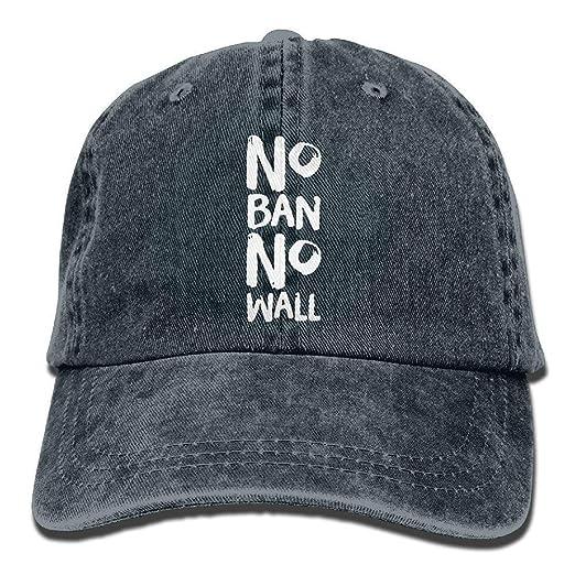26f5df1da Amazon.com: Funny Baseball Caps Hats No Ban No Wall Mens&Womens ...