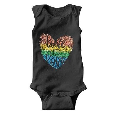 1db20ebf0856 Amazon.com  Gustaix Zimund Rainbow Heart Love is Love Unisex Baby ...