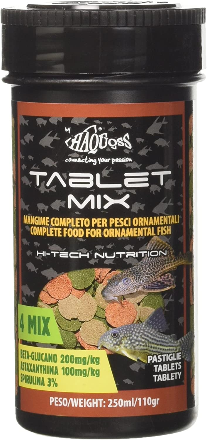 Haquoss Tablet Mix Sinking Food for Bottom Fish 250ml/110gr