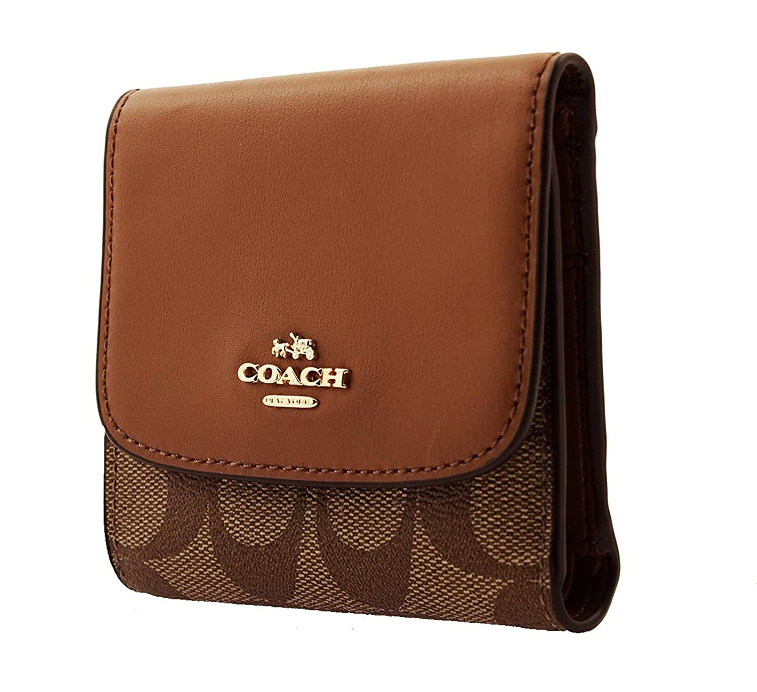 COACH Small Wallet in Signature Coated Canvas, F87589 at Amazon Women's  Clothing store: