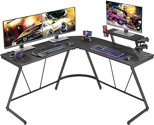 Mr IRONSTONE L-Shaped Gaming Desk 50.8″ Computer Corner Game Desk