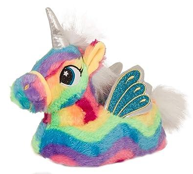 dc9bfe9cdf04 3D Rainbow Unicorn Slippers Ladies Sizes Large (7-8)  Amazon.co.uk ...
