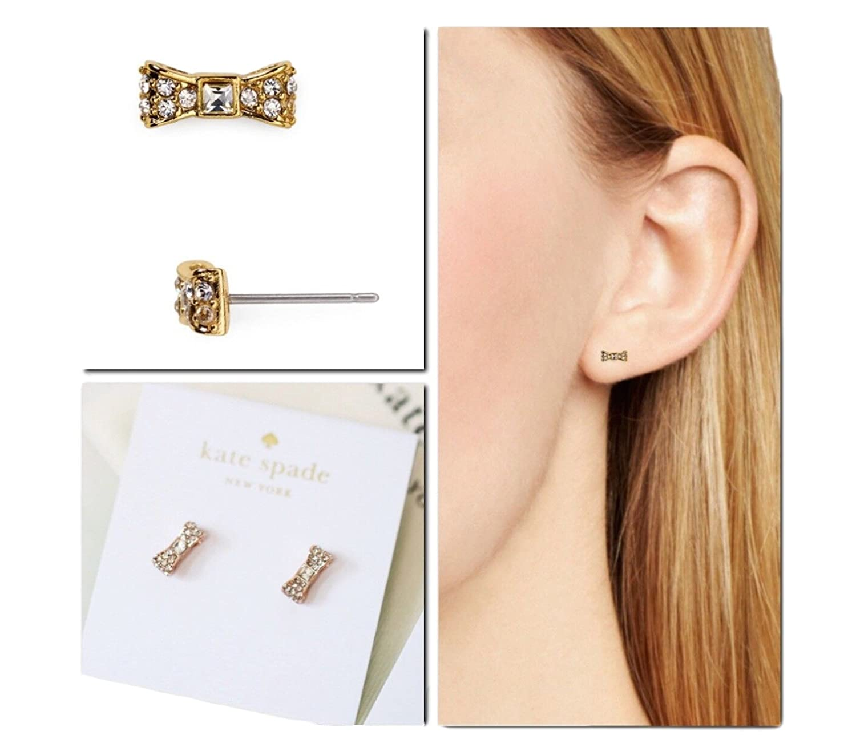 Amazon.com: Kate Spade New York Ready Set Bow Stud Earrings (Clear ...