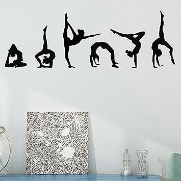 Gymnastics Wall Decals Silhouettes Sport Art Girl Vinyl Decals Wall Sticker  For Kids Room Decor Nursery