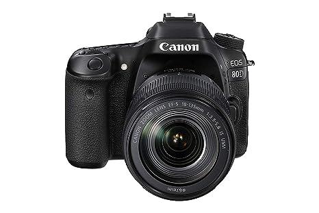 Canon EOS 80d EF-S 18 - 135 IS Nano USM Cámara Réflex, color Negro ...
