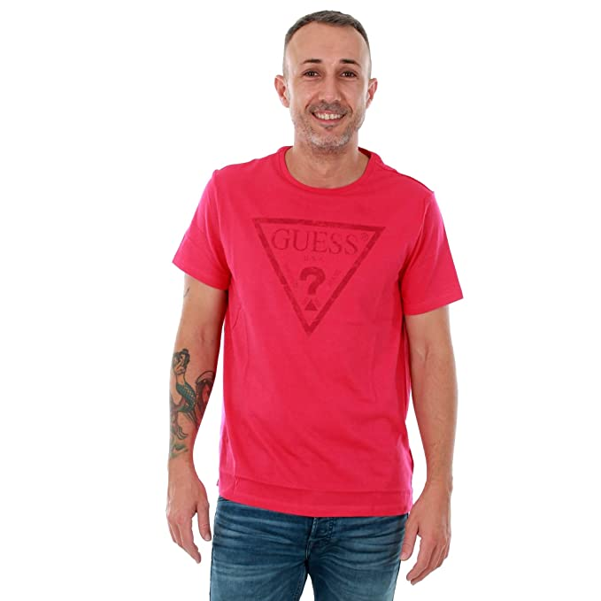 GUESS Camiseta Hombre Rosa U82I00I3Z00 - A424: Amazon.es: Ropa y accesorios