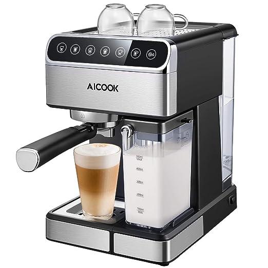 Aicook - Cafetera de goteo (5 bar, sin BPA, semiautomática con ...
