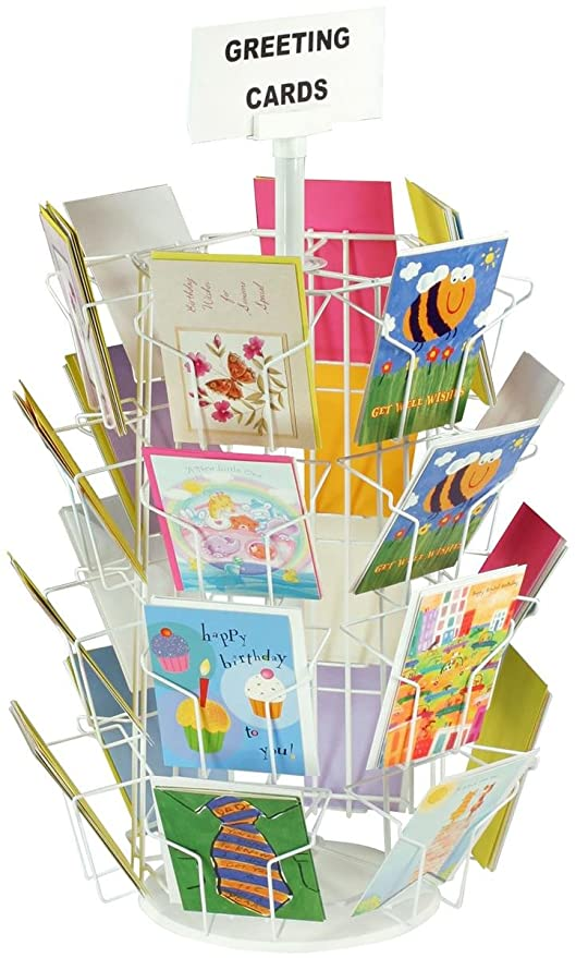 Amazon greeting card rack with 24 5 x 7 pockets for greeting card rack with 24 5 x 7 pockets for countertop use 29quot m4hsunfo