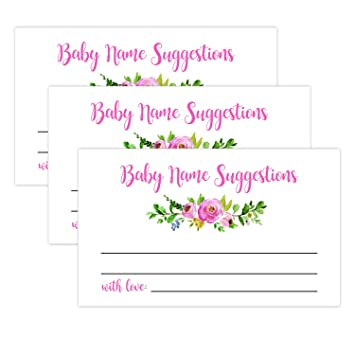 photograph relating to Baby Printables named : 50 Blush Floral Boy or girl Popularity Advice Playing cards, Youngster