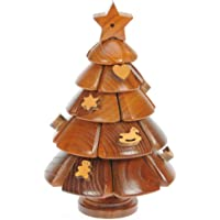Namesakes Christmas Tree 3D Wooden Jigsaw Puzzles for Grown Ups & Children : Novelty Brain Teasers Toy for Adults Kids & Xmas Ornament Decoration for the Home : Unique Gift Idea & Fun Stocking Filler