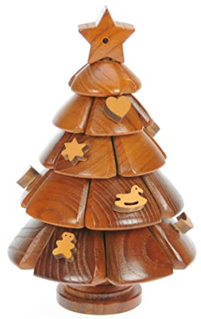 Namesakes Christmas Tree 3d Wooden Jigsaw Puzzles For Grown Ups Children Novelty Brain Teasers Toy For Adults Kids Xmas Ornament Decoration For
