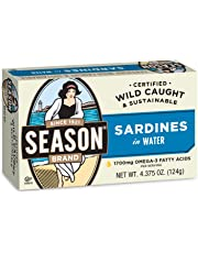 Season Sardines in Water, 4.375 Ounce (Pack of 12)