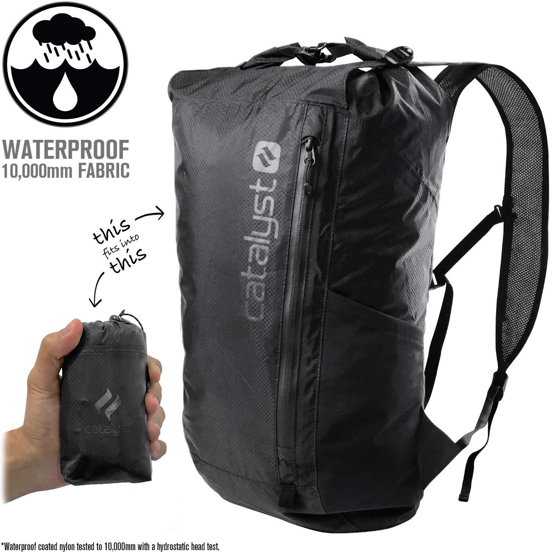 08dce62526 Catalyst Ultra Lightweight Weatherproof Waterproof Backpack Foldable 10  000mm Ultra Resistant Fabric