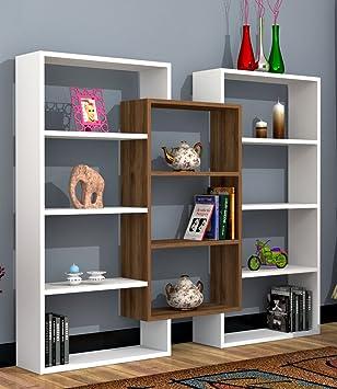 spark librera de saln blanco nogal libreras de oficina estantera o librera