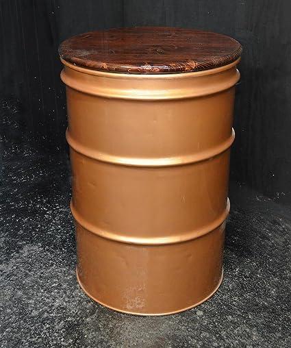 Merveilleux 4u0027 Oil Drum Barrel Table 24u0026quot; ...