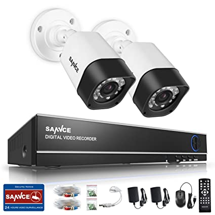 Sannce Home 720P Kits de monitoreo ONVIF con – Juego de 2 Cámara hermética, (