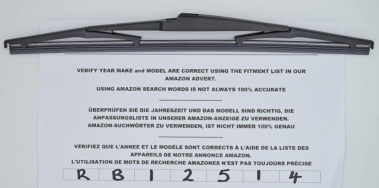 Limpiaparabrisas trasero de ajuste exacto 35 cm RB12514: Amazon.es: Coche y moto