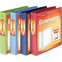 Cardinal 3 Ring Binders, 1.5 Inch, Round Rings, Holds 350 Sheets, ClearVue Presentation View, Non-Stick, Assorted Colors…